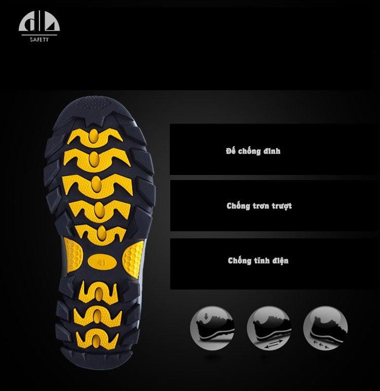 Đế thiết kế để bảo vệ bàn chân tuyệt đối