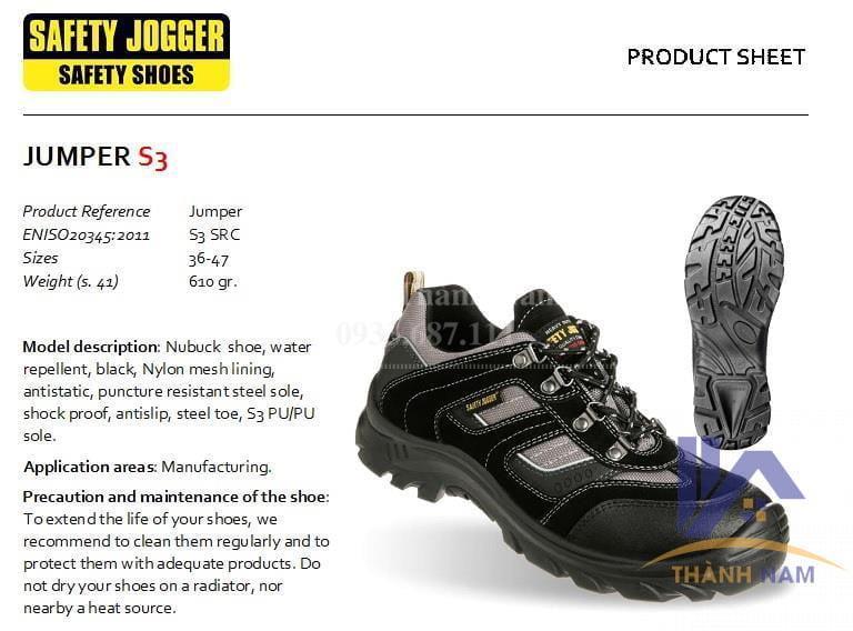 Giày bảo hộ lao động Jogger Jumper S3