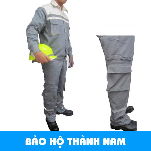 Quần áo bảo hộ pha màu ghi vải Pangzim Hàn Quốc
