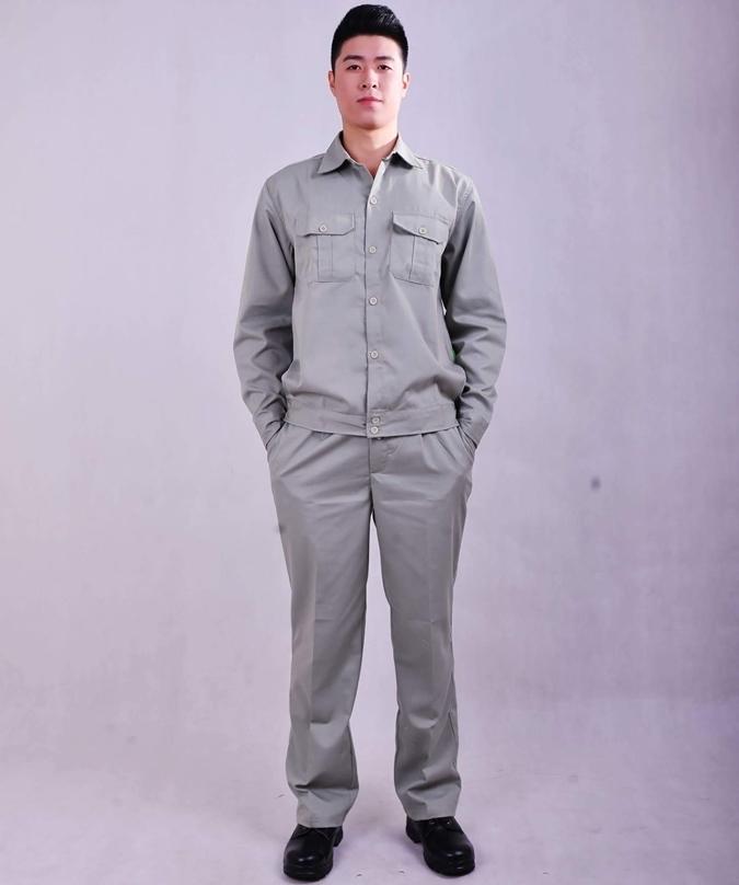 Quần áo bảo hộ lao động vải Kaki Hàn Quốc TN08