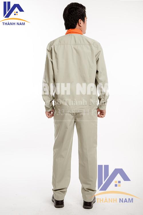 Quần áo bảo hộ Hàn QuốcTTN02 vải PangRim trắng cố phối cam