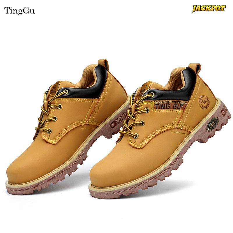 Giày bảo hộ Jackpot TingGu - Giày bảo hộ chất liệu da cao cấp (Màu đen)