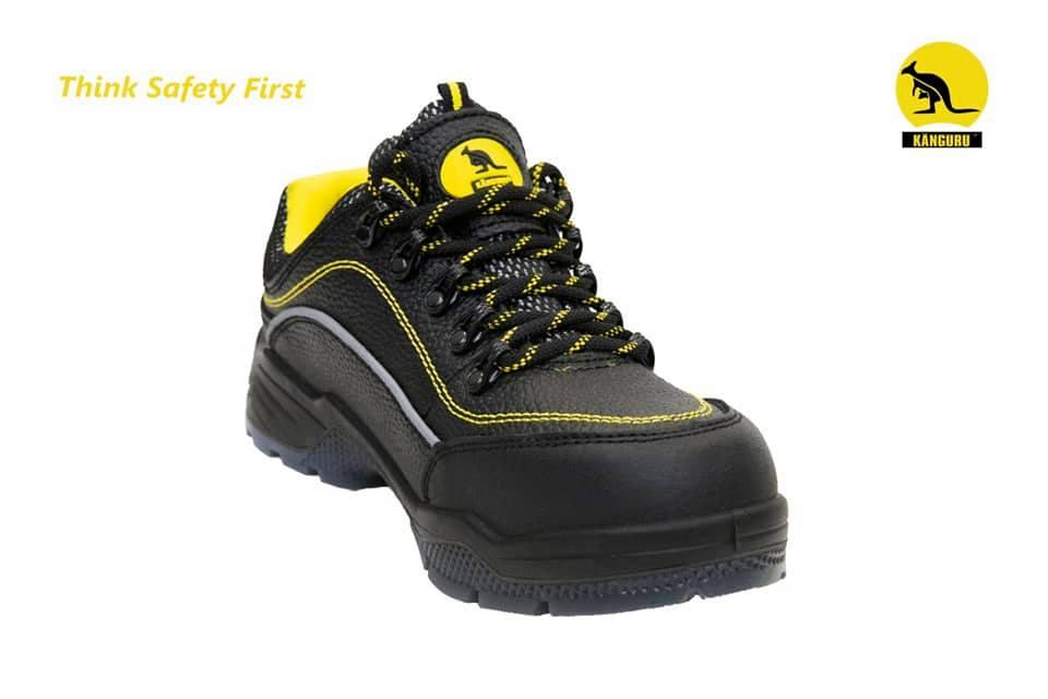 Giày bảo hộ Kanguru, Giày bảo hộ chất liệu da có phản quang